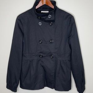 Roxy by Louie Louie black double breasted trench L